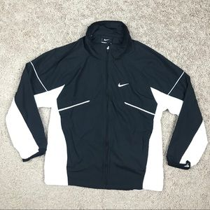 Nike Microfiber Zip-Up Long Sleeve Running Jacket
